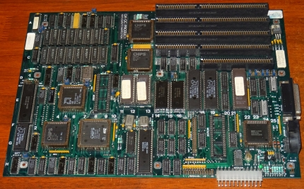 286er Mainboard, AMD N80L286-12-S CPU 1982, CHIPS P82A204 P82A205, AMD AM9517A-5PC P8237A-5, NEC D91043L D765BC, AT2 UTAX D/E ROMs 89