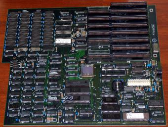 286er FTC Access Methods Incorporated FT-065027 Mainboard inkl. Intel R80286-8 CPU, Micro Lab Aachen West-Germany 1986