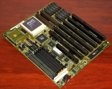 FIC 486-GVT-2 VLB Mainboard, VIA VT82C486A Chipsatz, It's ST 486DX2-66 CPU, Award Bios 1994