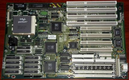 Elitegroup ECS SI54P AIO Rev. 1.3 mit Intel Pentium 90MHz CPU, 4MB SIMM RAM, SIS 85C501, Award Bios 1994