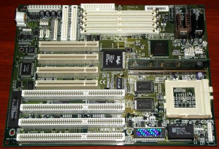 Elitegroup P5HX-B Mainboard Rev. 1.1 Intel HX Chipsatz, Sockel7, Award Bios 1995