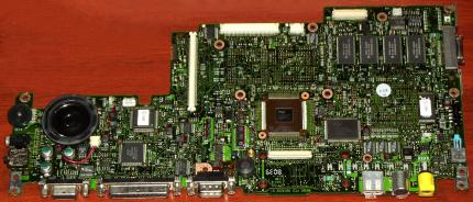 IBM ThinkPad 560X Notebook Mainboard mit Intel Pentium Mobile MMX 200MHz CPU, Grafik & Sound Chip, Laptop 1997