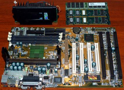 MSI MS6119 Ver. 1.1 BX2 Mainboard, Intel Pentium III 450MHz CPU sSpec: SL35D, 192MB (3x 64MB) SDRAM PC133, Award Bios 1998