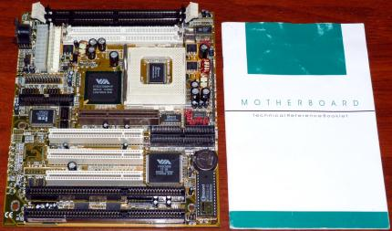 Socket 7 Mainboard Model Code-No: 35887801XX, VIA VT82C598MVP & VT82C586B Apollo MVP3, AT/ ATX & PS2/SDRAM, inkl. Handbuch, Award Bios 1998