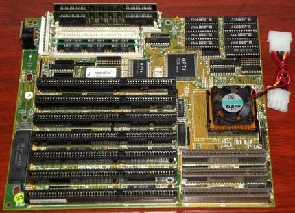 TMC PAT48PG-0.30 VL-Bus Mainboard, AMD Am486DX2-66MHz CPU, 8MB RAM, Opti 82C895, 256kb Cache, Award Bios 1994