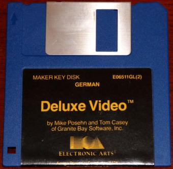 Amiga Deluxe Video German - Post Production by Mike Posehn and Tom Casey of Granite Bay Software Inc. 4 Disketten Electronic Arts 1987