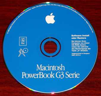 Apple Macintosh PowerBook G3 Serie Mac OS 8.6 Software Install and Restore CD 1999
