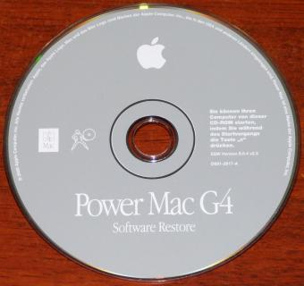 Apple PowerMac G4 Software-Restore CD SSW Version 9.0.4 v2.3 D691-2817-A Mac 2000
