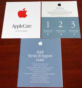 Apple Service and Support Guide & AppleCare & Software Coupons Mac OS Version 9