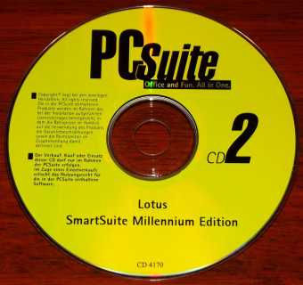 Lotus SmartSuite Millenium Edition nur CD2 PcSuite Office and Fun - All in One