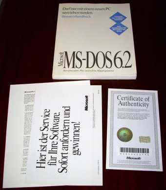 MS-DOS 6.2 Handbuch inklusive COA & Microsoft Hologram