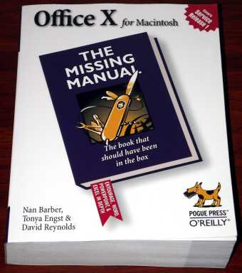 Office X for Macintosh - The missing Manual O'Reilley