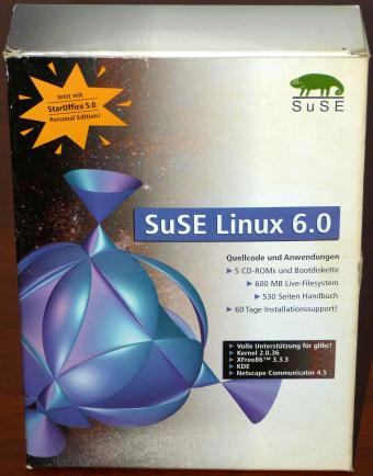 SuSE Linux 6.0 auf 5 CDs in OVP